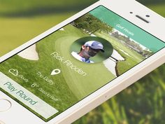 Golf App UI / UX Design designed by Mike Hince. Golf Apps, App Ui, Ui Ux Design, Mobile Ui, Digital, Create
