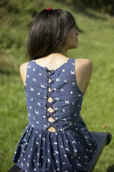 lace-up dress!!