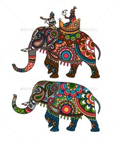 Buy Indian Elephant by ssstocker on GraphicRiver. Indian decorated elephant with rider Maharaja.