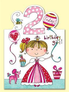 Rachel Ellen Age 2 Princess Birthday Card: Amazon.co.uk: Office Products