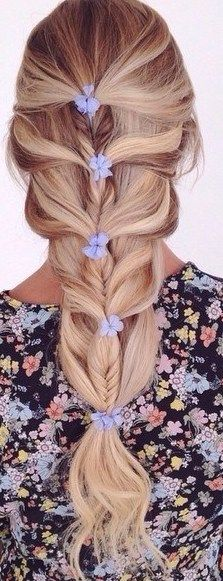 Fishtail for mermaid braid.