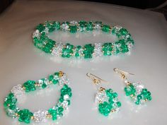 """""""Christmas Green Iceblocks"""" 3 piece set --- $5.00 + $3.00 shipping in the USA"""