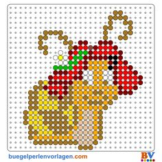 Plantillas y Patrones Hama Beads del Caracol Monika Häuschen gratis para imprimir Beading Patterns Free, Free Pattern, Cartoon Caracters, Perler Patterns, Perler Beads, Balloons, Cross Stitch, Crafts, Plastic Canvas