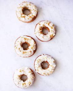 Grain free and gluten free coconut orange breakfast donuts by Clean Food Dirty City.