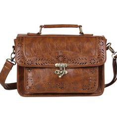 [Visit to Buy] BAGSMART Women's Brown Vintage Leather Briefcase Luxury Women Document Briefcase Executive Briefcase Small Lawyer Postman Bag #Advertisement