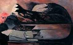 Graham Sutherland - Black Landscape (1939-40) Oil and sand on canvas