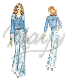 Our Patterns :: Marfy Collection 2015/2016 :: Sewing Pattern 3680 -