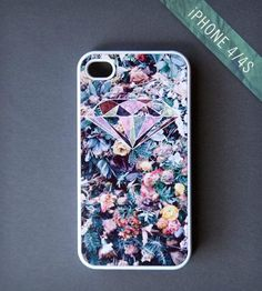 Flowers & Diamonds iPhone 4/4S Case by BlissfulCASE on Scoutmob Shoppe