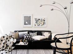 Stylish monochrome apartment in Sweden