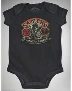 SAMCRO Onesie! Totally inappropriate, and I love it.