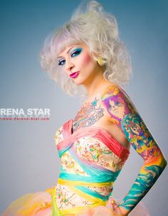 LISA FRANK TATTOO SLEEVE! If I ever got a sleeve this would be what I get!!!! LOVE IT!
