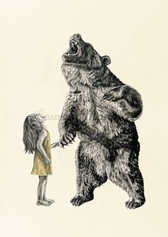 Bear With Me  Illustration Art Print A3 by LaurenMortimer on Etsy, $117.90