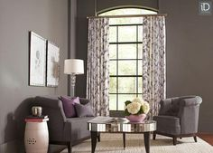 Dress windows with floral print drapes, available in a wide spectrum of colors and also perfect for accommodating a variety of window sizes.