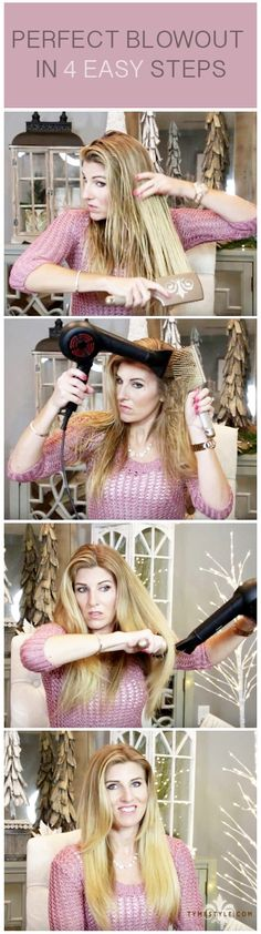 Give yourself THE ULTIMATE blow-out in four easy steps. All you need is a paddle brush, round brush and blow-dryer! Free shipping and 30-day money back guarantee on all TYME products including brushes. Our stylists will help you perfect your look with a free one-on-one virtual tutorial. WWW.TYMESTYLE.COM