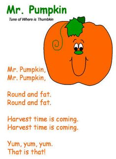 fall harvest poems for preschoolers poem postercoloring page - Halloween Songs For Preschoolers