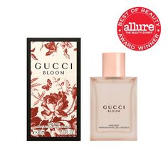 Gucci Bloom Hair Mist transforms the headiest white flowers into an airy nimbuslike cloud that hangs over your head in. E30, Perfume Hermes, Perfume Diesel, Hair Mist, Sent Bon, Bloom, Gucci, Best Fragrances, Beauty Awards