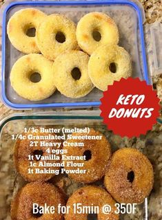 Keto Hot Breakfast Adaptable with other milks in varying proportions. - Keto Breakfast - Ideas of Keto Breakfast - Adaptable with other milks in varying proportions. Keto Cookies, Keto Donuts, Keto Bagels, Healthy Donuts, Keto Chocolate Chip Cookies, Chocolate Cake, Low Carb Donut, Low Carb Keto, 7 Keto