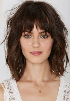 Super hairstyles for long fine hair with bangs - new hair models - hairstyle - . - Super hairstyles for long fine hair with bangs – new hair models – hairstyle – - Medium Haircuts With Bangs, Bob Haircut With Bangs, Medium Hair Cuts, Hairstyles With Bangs, Short Hair Cuts, Medium Hair Styles, Curly Hair Styles, Haircut Medium, Mid Length Hair With Bangs