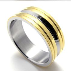 * Penny Deals * - TEMEGO Jewelry Mens Womens Polished Stainless Steel Band Ring, Gold Silver *** Want to know more, click on the image.