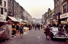 Vintage Photos Of Portobello Road Market London In 1977 by Mats Örn Vintage London, Old London, Roads And Streets, His Travel, London Calling, Portobello, Vintage Photos, Travel Photography, Street View