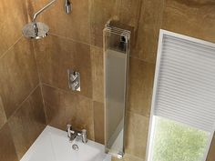 Image 3 of Cleargreen Four Fold Hinged Bathscreen Right Handed - BS5R