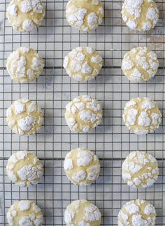 These lemon crinkle cookies are perfect if you love lemon desserts! They take after chocolate crinkle cookies, but are a delightful refreshing lemon flavor sprinkle with powdered sugar. These are always a huge hit! Lemon Crinkle Cookies, Chocolate Crinkle Cookies, Chocolate Crinkles, Lemon Cookies Easy, Lemon Sugar Cookies, Lemon Cupcakes, Lemon Dessert Recipes, Lemon Recipes, Baking Recipes