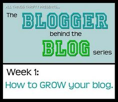 How to Blog #1