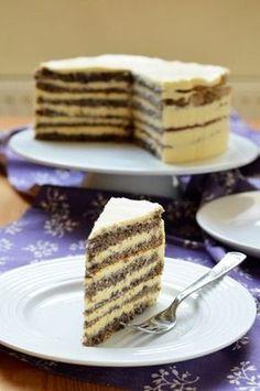 Citromos-mákos torta Gluten Free Desserts, Healthy Desserts, Fun Desserts, Hungarian Desserts, Hungarian Recipes, Yummy Food, Tasty, Strawberry Cupcakes, Sweet Recipes