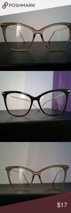 GORGEOUS  CAT EYE GLASSES BOTH ARE BRAND NEW. CLASSIC OVERSIZED CAT EYE STYLE CLEAR LENS GLASSES. FASHION CLEAR FRAME WITH UV 400 PROTECTION. Available in clear frame and black frame (NOT PRADA JUST FOR EX.) $17 eac. Prada Accessories Glasses