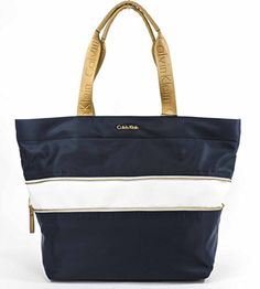 Calvin Klein Nylon Expandable Tote,Navy/White -- See this great product.