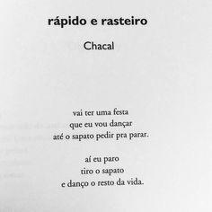 #chacal do livro Cem melhores poemas brasileiros