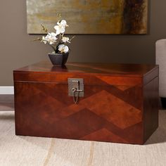 Upton Home Tifton Cherry Coffee And Cocktail Trunk Table