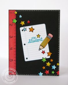 School Time Photopolymer Clear Stamps - Sunny Studio Stamps