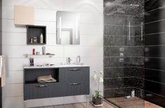Salle de bain YOU, modèle STEPPE coloris bois figuier noir