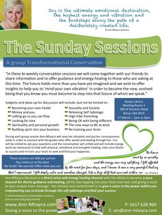 The Sunday Sessions where you learn how to 'mind your own vibration'. Join us Sunday Sessions, Mind You, High Energy, Conversation, Join, Mindfulness, Learning, Marriage, Studying