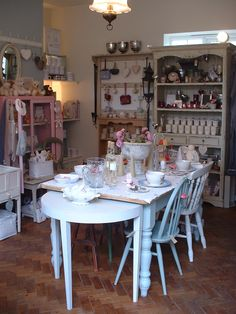 Pretty pretty pastels in Suzanne's shop  called Shy Violet in the little village of Stalbridge in Dorset, SW England
