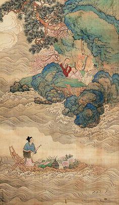 明-仇英-人物, Artist: Qui Ying (仇英, ca.1494-1552) Ming Dynasty