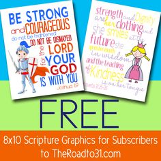 FREE 8x10 Scripture Graphic of YOUR CHOICE!