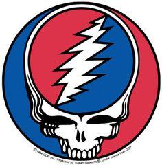 """Deadhead Skull Sticker 5"""""""