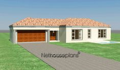 3 bedroom house plans with an open plan. Browse one story floor plans to modify or configure to suit your own taste. Quality South African home designs 6 Bedroom House Plans, 4 Bedroom House Designs, Garage House Plans, South African Homes, African House, Double Storey House Plans, House Plans With Photos, Floor Layout, Storey Homes