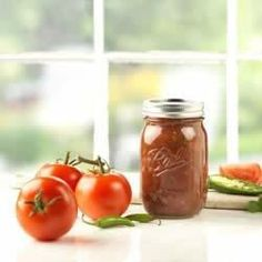 Salsa recipe by Ball. Tripled recipe, only double vinegar and upped the peppers to 1 pound.