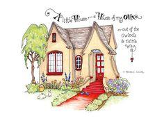 Cottage Art Home by Pattie Jansen