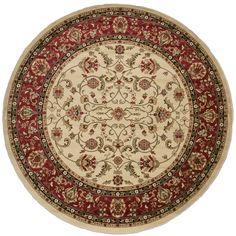 Classic Keshan Antique Area Rug (7'10 Round)