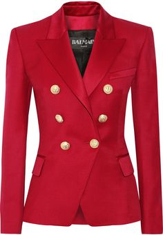 Balmain Double-Breasted Wool-Twill Blazer   #Chic Only #Glamour Always