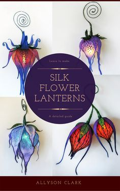This is a detailed, step by step ebook tutorial for making portable silk flower lanterns with battery ...