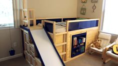 Check out these IKEA hack for an awesome child's bed!