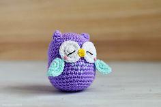 Free crochet pattern!  Mr. Murasaki Owl http://www.ravelry.com/patterns/library/mr-murasaki-owl-amigurumi