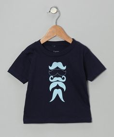 Take a look at this Pigeon Camera Kids Navy Mustache Man Tee - Toddler on zulily today!