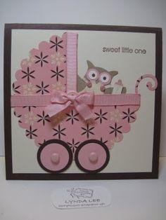 owl punch cards stampin up Scrapbook Bebe, Scrapbook Cards, Scrapbook Albums, Baby Girl Cards, New Baby Cards, Stampin Up Karten, Stampin Up Cards, Owl Punch Cards, Owl Card