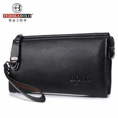 Vintage Famous Brand Men Wallet Luxury Long Men's Clutch Bags Male Monederos Purse Leather Portemonne carteira masculina <3 Encontrar más información haciendo clic en la imagen